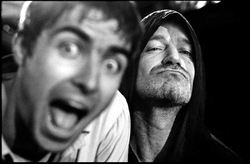Liam and Bono San Francisco 1996 by Jill Furmanovsky